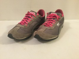 Puma Speeders Running Shoes Mesh Suede Trim Gray Pink Lace Up Size 11 Women's - $24.74