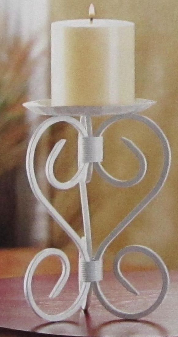 Lot of 6 Mission White Pillar Candle Stand Candle Holder Wedding Centerpieces image 3