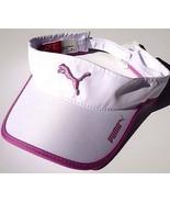 NEW! White-Pink PUMA Active Runner SOFT Lt-Wt Golf Visor Women's Day - $34.34