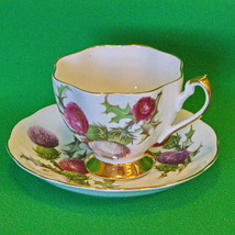 Vintage (1950-1966) Queen Anne (England) Dundee Thistle Cup & Saucer Set - $7.95