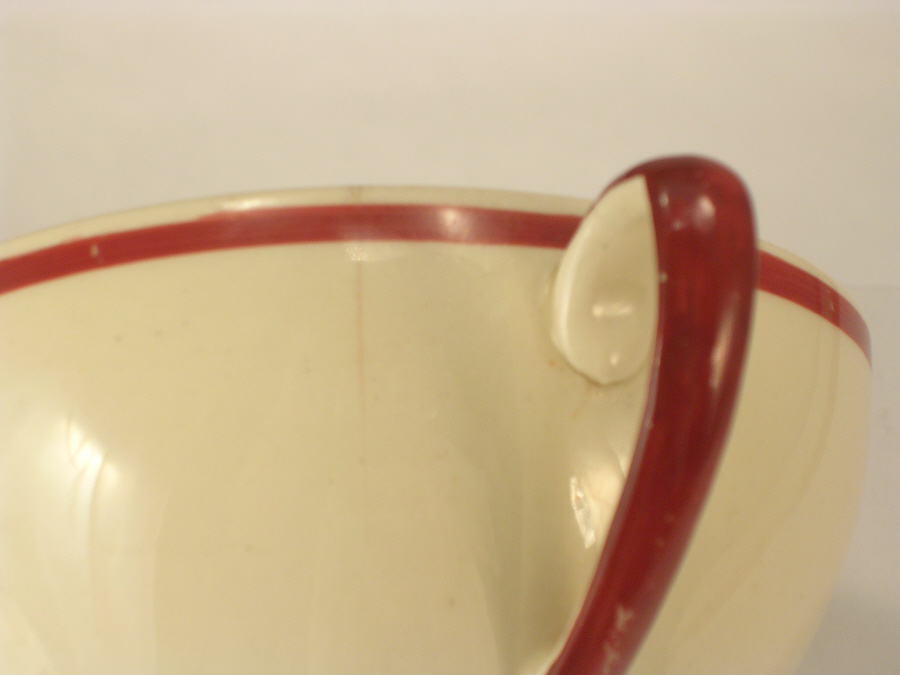 Susie Cooper Crown Works Wedding Ring Tea Cups Cracked x2 for Herb Garden Use