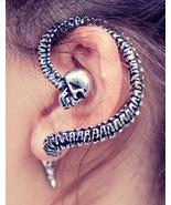 Skull Spine Ear Cuff/ Alchemy Gothic Necacrosome Earring - $20.00