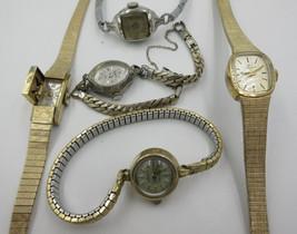Lot of 5 Ladies Watches for parts or repair, El... - $74.80