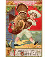 Thanksgiving Greetings Vintage 1910 Post Card - $6.00