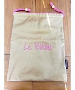 LANCOME Le Bikini Wet Bikini Gold W Pink Vinyl Lined Drawstring Bag. NWOT - $18.99