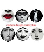 Custom umbrella Piero Fornasetti Fashion Portable Foldable Printed Umbre... - $31.99