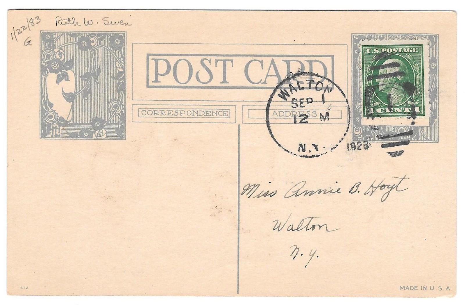 Ruth Welch Siver Children and Dog Umbrella When I'm In Love Vintage 1923 Postard