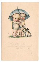 Ruth Welch Siver Children and Dog Umbrella When I'm In Love Vintage 1923... - $4.99