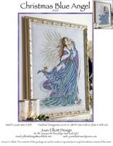 Christmas Blue Angel JE105 cross stitch chart Joan Elliott Designs - $14.00