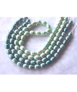 FW Pearls TWO 16 inch Strands MInt & Teal Green... - $14.99