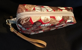 Clutch Bag/Wristlet/Makeup Bag - Chocolate candies on red image 3