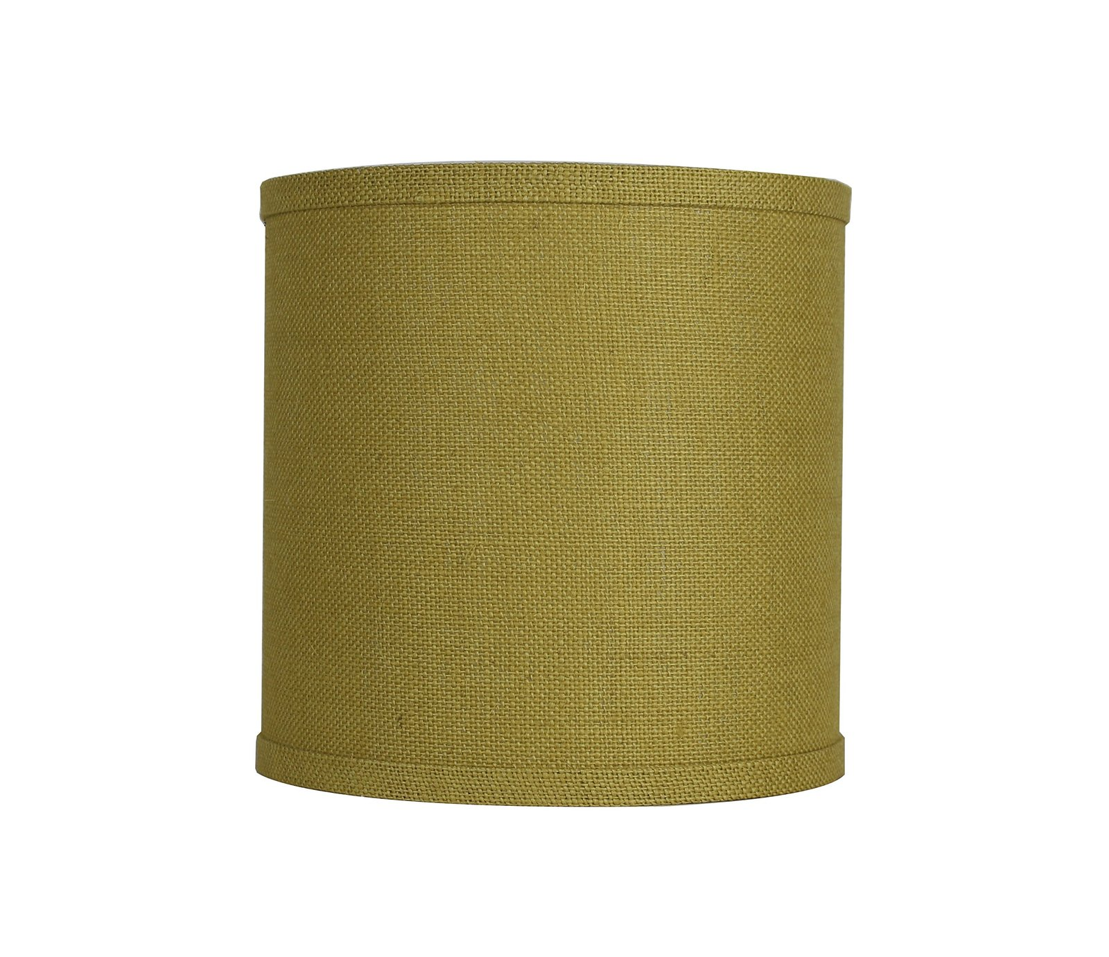Urbanest Classic Drum Burlap Lampshade, 10-inch by 10-inch by 10-inch, Mustard Y image 2