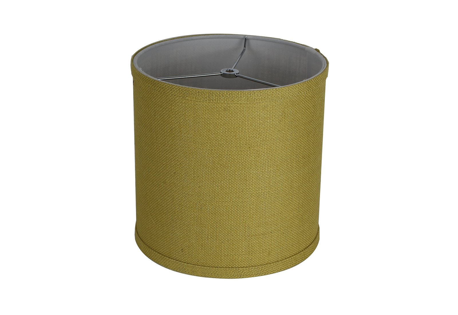 Urbanest Classic Drum Burlap Lampshade, 10-inch by 10-inch by 10-inch, Mustard Y image 3