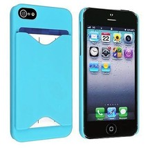 Credit Card ID Case for iPhone 5 / 5S - Sky Blue - $5.89