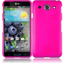 Hard Rubberized Case for LG Optimus G Pro E980 - Hot Pink - $5.89