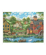 "MasterPieces Heartland Gallery ""Swan Pond"" 550 Piece Jigsaw Puzzle Bonni... - $11.30"