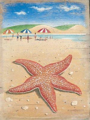 Starfish Seastar Nautical Ocean Water Beach Decor Metal Sign