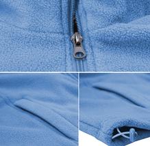 Men's Lightweight Warm Polar Fleece Jacket Full Zip-Up Collared Sweater Vest image 10