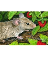 ACEO art print Mouse 10 from original painting ... - $4.99