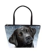 Classic Shoulder Handbag Purse Bag Dog 100 black Labrador art L.Dumas - $41.99