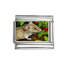 Italian charm 9mm silver Mouse 10 animal from art painting L.Dumas - $5.99