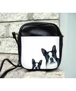 Small Sling Bag Purse Dog 128-2 B/W Boston Terr... - $24.99
