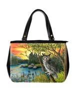 Office Handbag Purse Bag Bird 68 Owl sunset fro... - $48.99