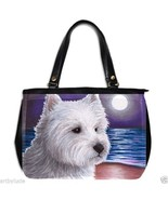 Office Handbag bag Purse from art painting Dog 81 Westie West Highland T... - $51.99