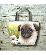 Bag Purse Handbag Bucket Dog 114 Pug Daisy Flow... - $37.99