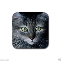 Rubber Coasters set of 4, from art painting Cat 478 by L.Dumas - $13.99