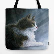 Tote Bag All over print Made in USA Cat 594 from art painting by L.Dumas - $26.99+
