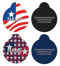 PATRIOTIC id Dog Tags * Personalized Identifica... - $9.99
