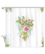 Shower Curtains Romantic Victorian Flower Water... - $69.99