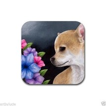 Rubber Coasters set of 4, from art painting Dog 77 Chihuahua by L.Dumas - $13.99