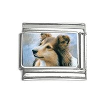 Italian Charm 9mm Dog 122 Collie Lassie Sheltie from art painting L.Dumas - $5.99
