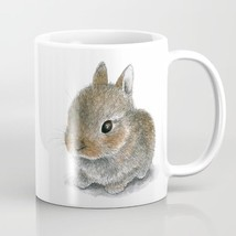 Rabbit 61 Hare Bunny Coffee Mug Cup 11oz or 15oz Made in USA art L.Dumas - $19.99+