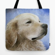 Tote Bag Totes All over print Made in USA Dog 98 Golden Retriever art L.... - $29.99+