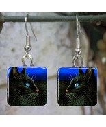 Handmade jewelry glass earrings black Cat 307 a... - $13.99 - $16.99