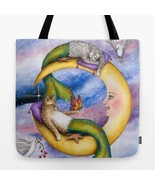 Tote Bag All over print Made in USA Cat Mermaid... - $29.99 - $35.99