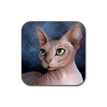 Rubber Coasters set of 4, Cat 578 Sphynx Sphinx from art painting L.Dumas - $13.99