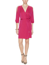 DIANE von FURSTENBERG AUTUMN SPLIT SLEEVE PINK DHALIA DRESS - US 12- UK 16 - $170.14