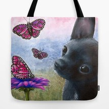 Tote Bag All over print Made in USA Dog 91 Chihuahua art painting by L.D... - $26.99+