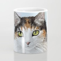 Coffee Mug Cup 11oz or 15oz Made in USA Cat 572 Calico Blue art painting... - $19.99+