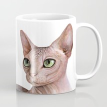 Coffee Mug 11oz 15oz Made USA Cat 578 Sphynx Sphinx Pink Butterfly art L... - $19.99+