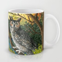 Coffee Mug Cup 11oz or 15oz Made in USA Bird 68 Owl Nature art painting ... - $19.99+