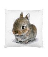 Cushion Cover Throw Pillow Case Hare 61 Cute Rabbit art painting L.Dumas - $20.99 - $24.99