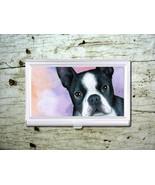 Business Credit Card Holder Dog 128 Boston Terr... - $17.99