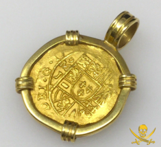 MEXICO 2 ESCUDOS 1714 PENDANT JEWELRY 1715 FLEET PIRATE GOLD COINS SHIPW... - $6,950.00