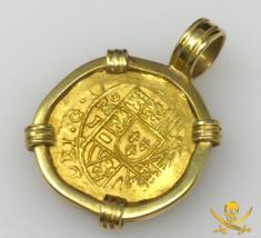 MEXICO 2 ESCUDOS 1714 PENDANT JEWELRY 1715 FLEET PIRATE GOLD COINS SHIPW... - $6,950.00