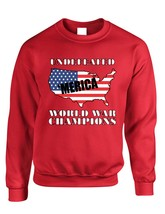 Adult Sweatshirt Undefeated World War Champions Love USA - $19.94+